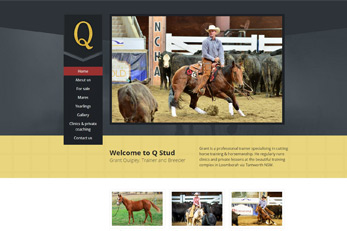 Q StudLoomberah, Tamworth An engaging website which simply and effectively delivers the information users are looking for.